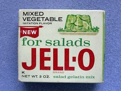 Vintage: Food Group, Vegetables Flavored, Mixed Vegetables, Childhood Memories, Vegetables Jello, Jell O', Fast Food, Peanut Butter Sandwiches, Jello Salad
