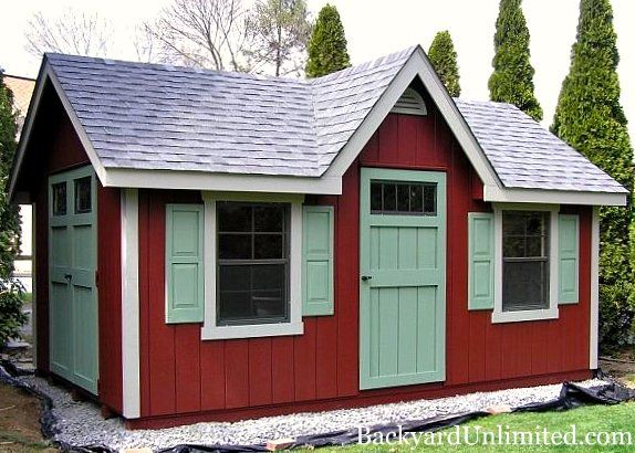10 39 x16 39 custom storage shed with a dormer two large for Custom transom windows