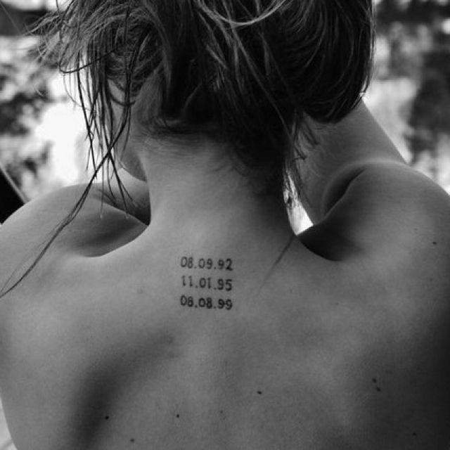 In memory tattoos. Love.