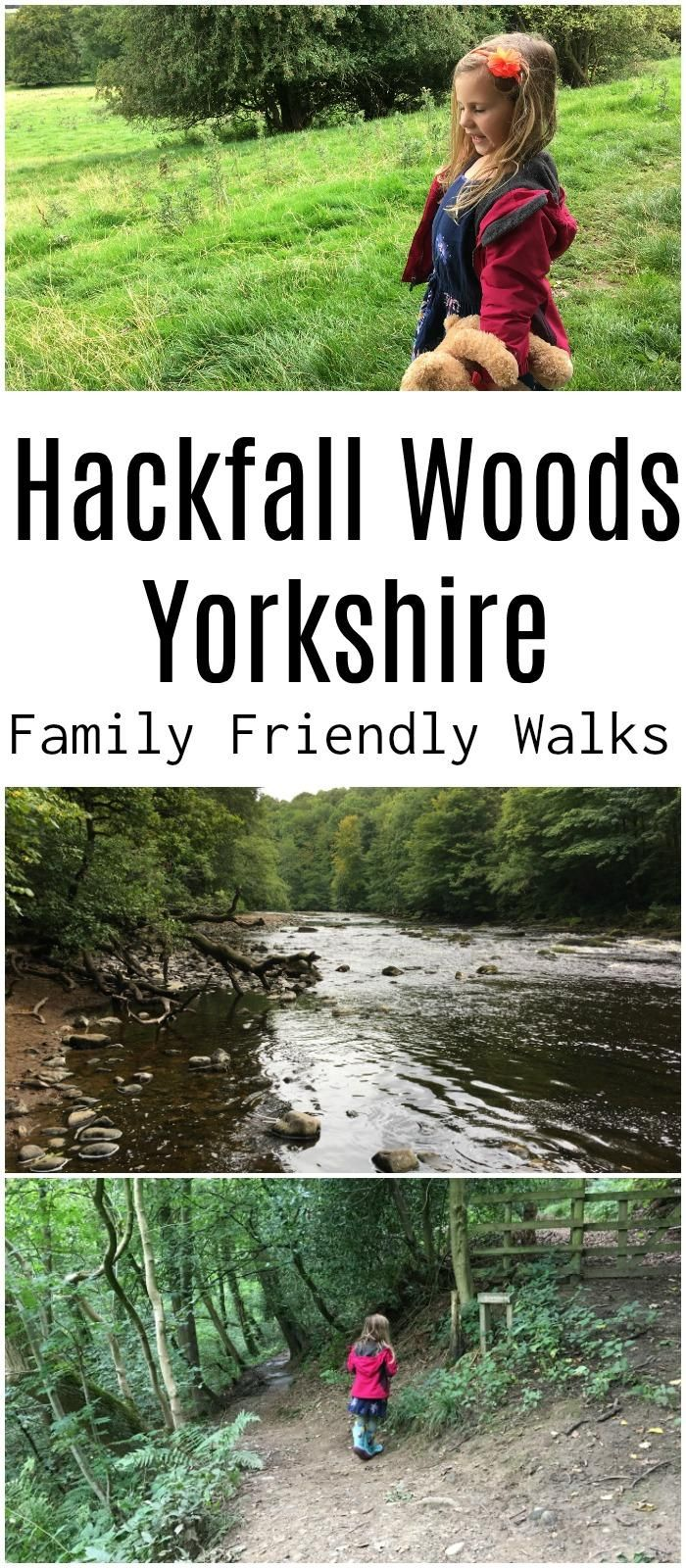 Hackfall Woods in North Yorkshire is a excellent place for family hiking. With trees, waterfalls, historic buildings an the River Ure it's a great place to introduce children to walking and the great outdoors #hackfallwoods #familytravel #outdoors #uk #yorkshire