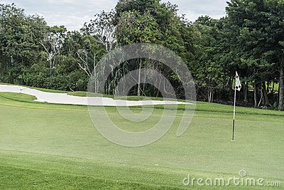 Golf Course on Riviera Maya in Mexico.