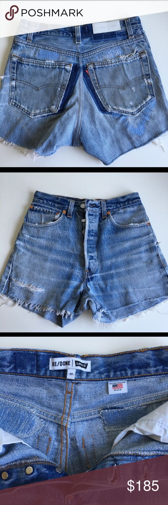 Levi's Redone High Rise Shorts 23 fits 25 Preowned, worn a couple of times. In perfect condition. Would definitely fit 25 Re/Done Shorts Jean Shorts