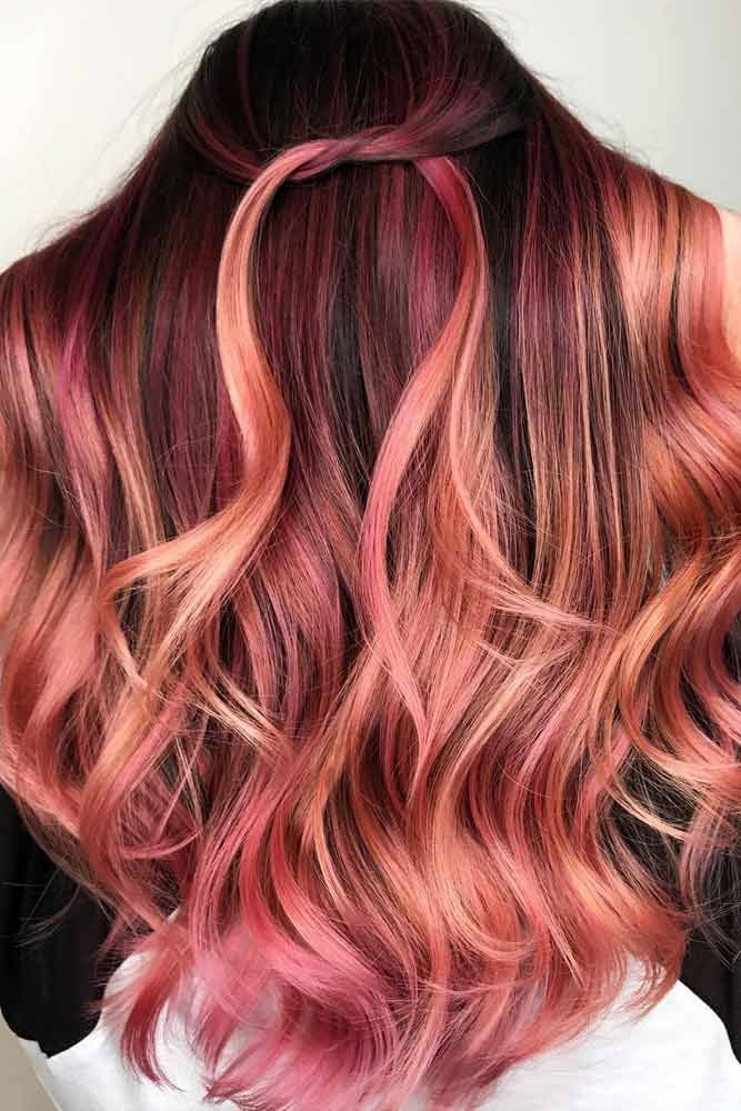 47 Breathtaking Rose Gold Hair Ideas You Will Fall In Love With Instantly Rose Gold Hair Shades Hair Styles Hair Highlights