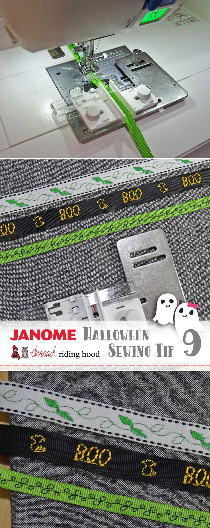 Halloween Costume Tip No.9: Embellish trims to make your costume unique! | Thread Riding Hood with@JanomeCanada