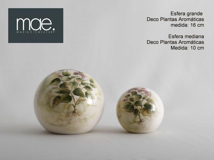 esferas mediana y chica, DECO Aromáticas, decoradas a mano
