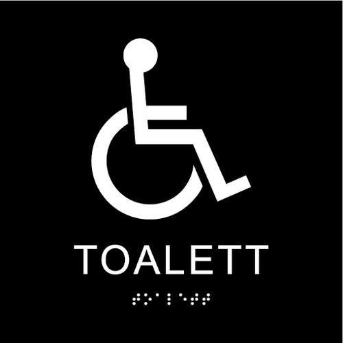 Bilderesultat for taktile skilt toalett
