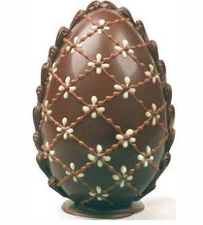 beautiful chocolate easter egg
