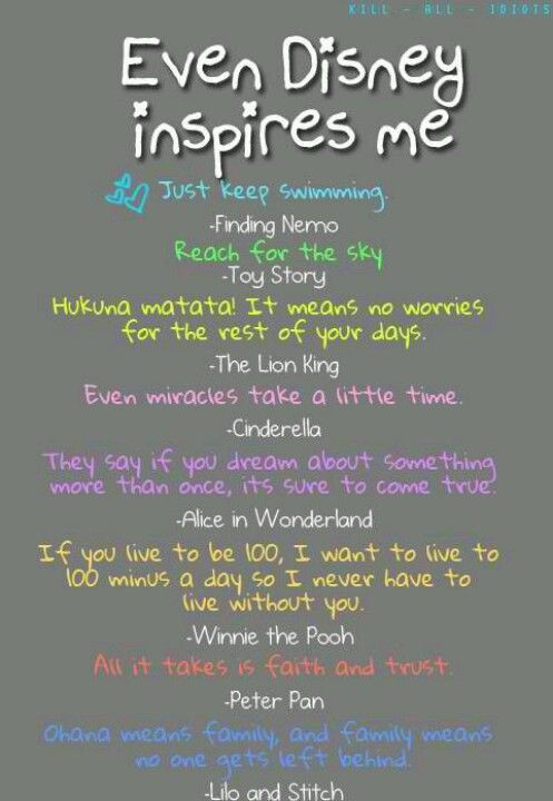 Disney Quotes. I love this except for the Alice in Wonderland quote I from Sleeping Beauty...