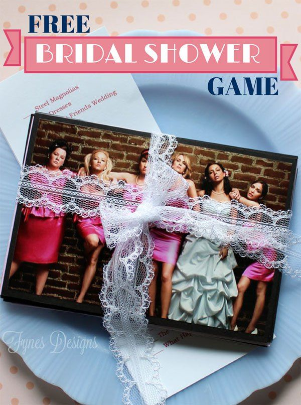 Play this Wedding Movie Matchup bridal shower game with your guests for a fun twist on party games. Free Printable for the bridal shower games.