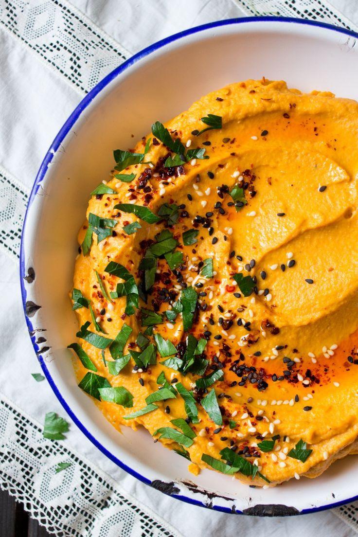 Lebanese pumpkin hummus