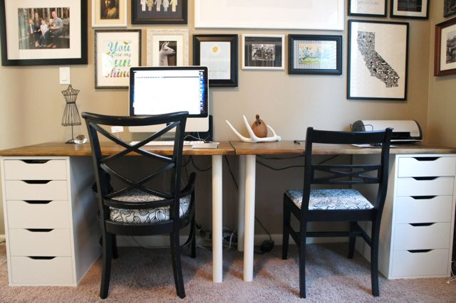 Cute Desk Idea These Are Ikea Set Of Drawers Table Top And Two Legs You Could Put Them In An L Shape The Corner Your Room Pinterest