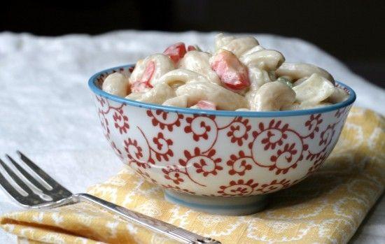 romige macaroni salade (glutenvrij, natuurlijk