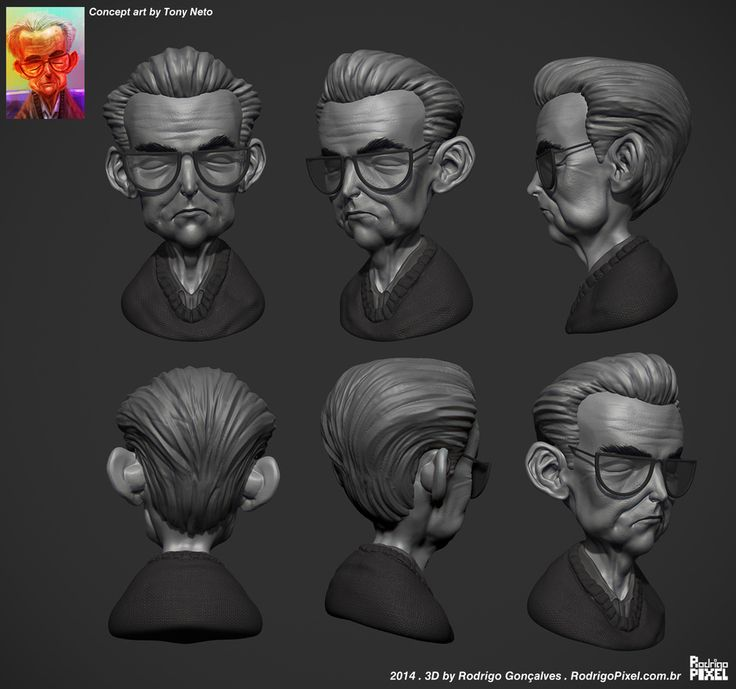 Cartoon Sketch - Clay render by Rodrigo Gonçalves | Cartoon | 3D | CGSociety