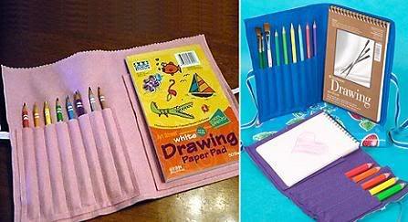 Portalapices y cuaderno