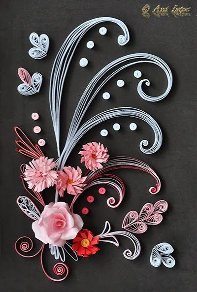 best ideas about Quilled Roses