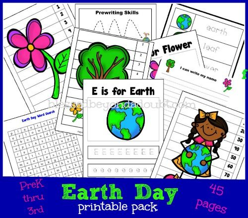 Earth Day printables for Preschool - 3rd grade from @Blessed Beyond a Doubt