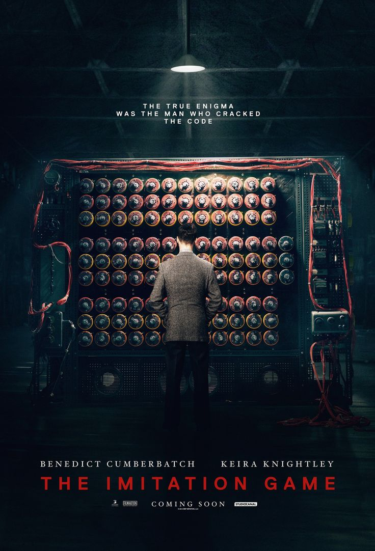 the imitation game [] http://www.imdb.com/title/tt2084970/?ref_=nv_sr_1 [] feat #AlanTuring's biography http://en.wikipedia.org/wiki/Alan_Turing [] theatrical trailer http://www.youtube.com/watch?v=i_ww-bkIqSQ [] official UK teaser http://www.youtube.com/watch?v=Fg85ggZSHMw []