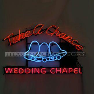 "neon sign - wedding chapel 38"" x 25"""