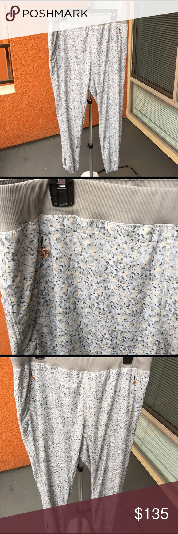 🆕floral Lulu pants ⭐NWOT⭐SMOKE/PET FREE HOME⭐ super lightweight and soft. Stretch waist. Snaps at ankle. Never worn. Style and print no longer made. Comes with a lulu bag! lululemon athletica Pants Track Pants & Joggers