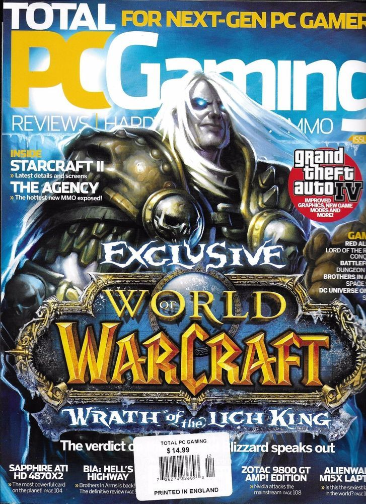Total PC Gaming magazine World of Warcraft Starcraft The Agency Grand Theft Auto