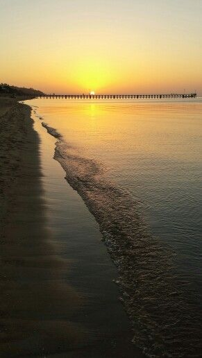 Sunset over Dromana Beach, Mornington Peninsula, Victoria, Australia