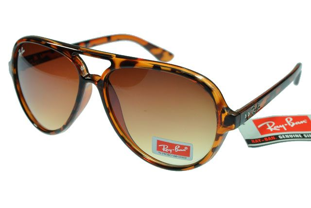 Ray-Ban Cat 4125 Leopard Grain Frame Tawny Lens RB1184