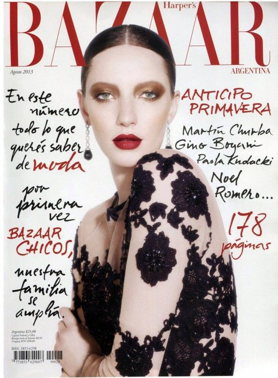 100 best magazine covers with great makeup images on pinterest for Bazaar argentina