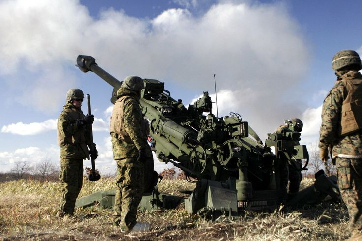 U.S. Marines fire the M777 Howitzer during an annual artillery relocation training fire mission   #USMC #USMarines #USMilitary    http://www.us-military-rings.com