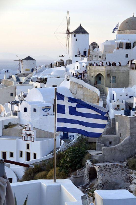 Île de Santorini #Grece #Patriotique