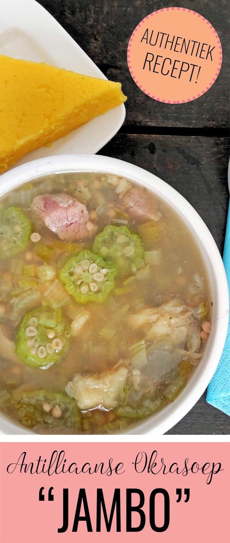 JAMBO is de lekkerste Antilliaanse okrasoep. Het wordt gemaakt met okra's, vlees, vis én zeevruchten. Absoluut de moeite waard! Je maakt het natuurlijk met het recept op www.antilliaans-eten.nl