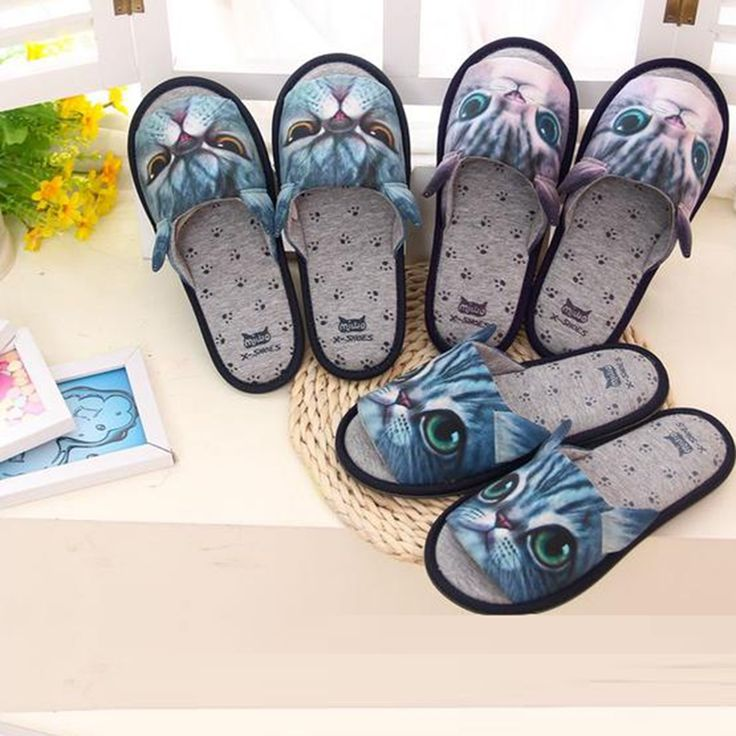 2016 Soft Floor Cotton Cartoon 3D Cat Slippers For Women House Shoes Men Slipper 3 Colors Pantuflas Pantufas Pantofole Donna Hot //Price: $21.95 & FREE Shipping //     #catgift