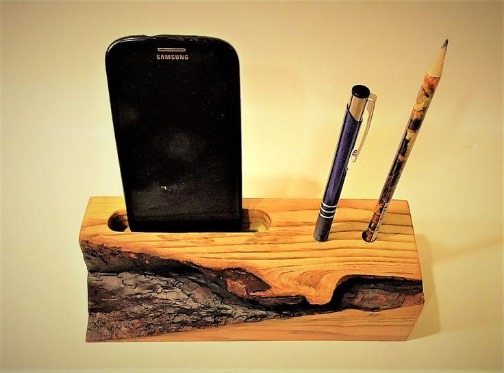 Wooden Cell Organizer Phone Desk Stand Wireless Holder Office Accessories Desktop