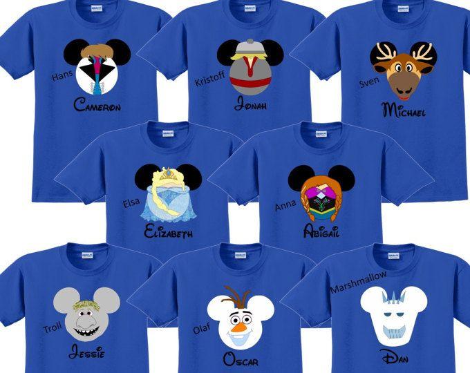 60bd1e3f54524 Disney Shirt FROZEN Disney Vacation Disney Group Shirts Disney ...