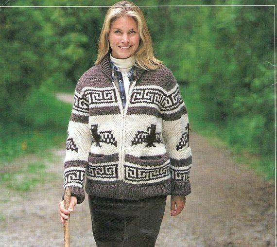 White Buffalo/ Cowichan/Chinook THUNDERBIRD JACKET Knitting Pattern
