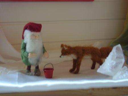 tomte and fox http://www.wool-power.nl/vervilten4.html