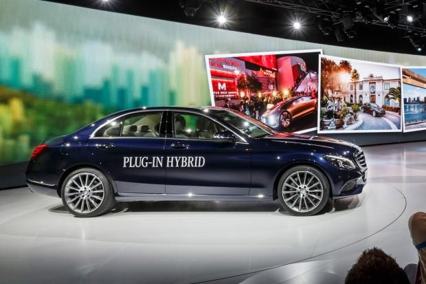 Mercedes C 350 Plug-in Hybrid front on