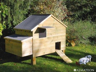 Poulailler en bois de qualité supérieure, pour 6 à 8 poules. Modèle : Louvil