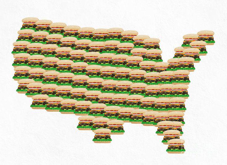 Best Burger Art Images On Pinterest Burgers Food Art And - Burger joint us map