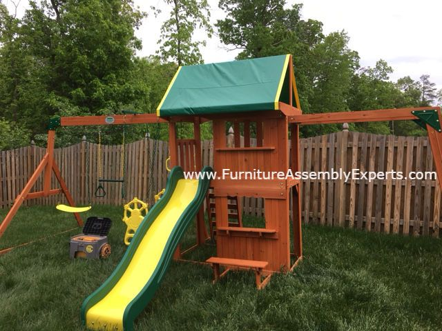 Swing Set Installed For A Customer In Ellicott City MD By The Swing Set  Installers Team