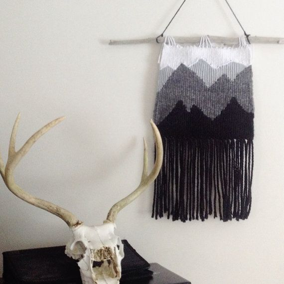 Mountain Woven Wall Hanging by TheWildWolfCo on Etsy