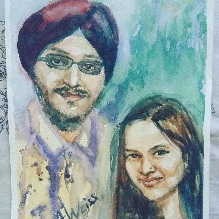 My new watercolor. Indian portrait:))