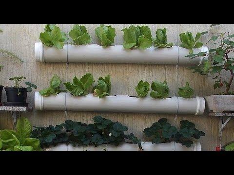 Horta Vertical em Tubos de PVC, passo a passo Veja como fazer uma horta Vertical com tubos de PVC, faça você mesmo em sua Casa, neste Vídeo informações e dicas de como fazer!