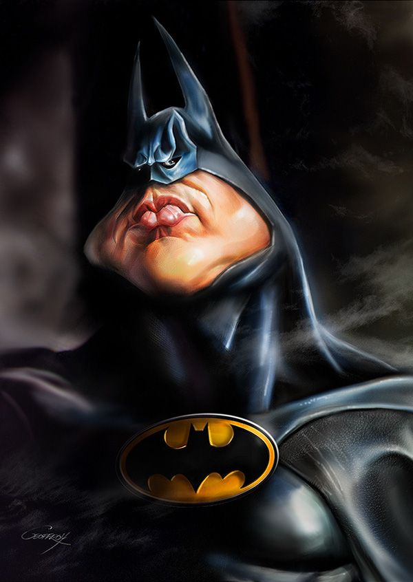 Batman - CARICATURES by Anthony Geoffroy, via Behance