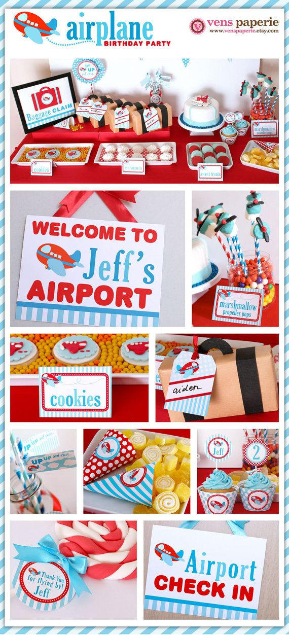 airplane birthday party DIY decoration
