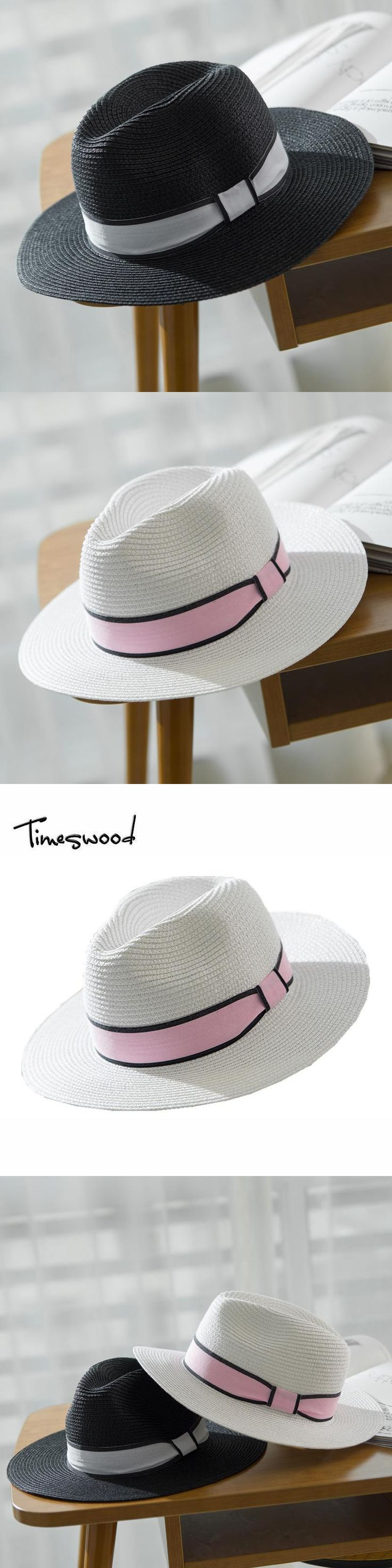 [TimesWood]Ladies Sunhat Beach Straw Sun Hats Women's Fashion 2017 Lovely Casual Adult Woman Summer Caps Strawhat Gorras Travel