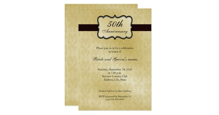 50th Wedding Anniversary Invitation Ideas: 17 Best Ideas About 50th Anniversary Invitations On