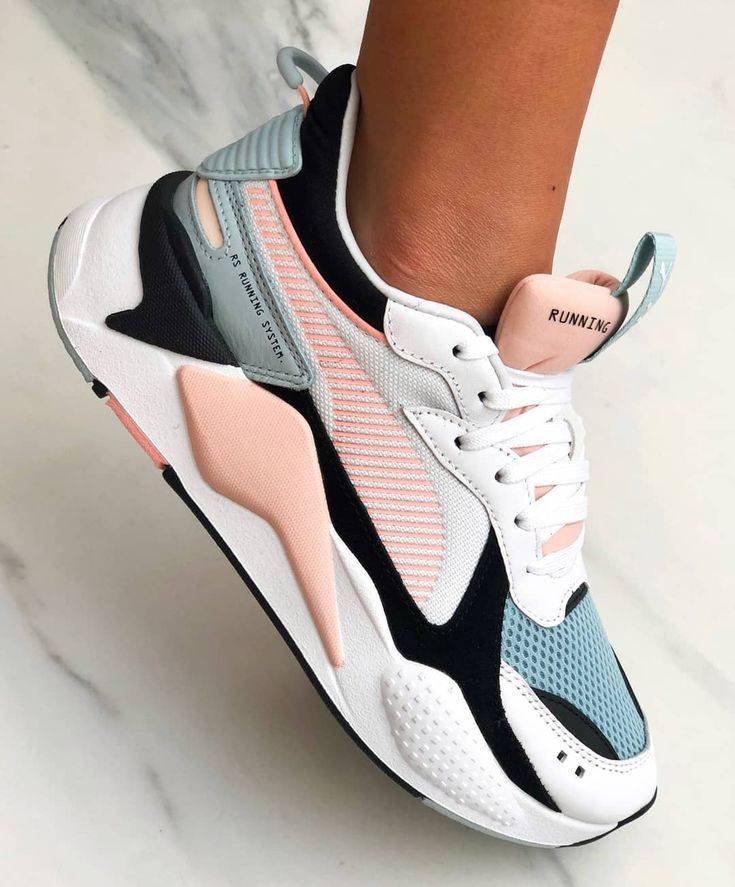 PUMA RS-X REINVENTION SNEAKERS - White Black Peach Blue ...
