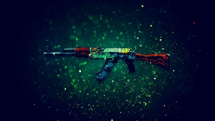 Download AK 47 Fire Serpent Rifle Counter Strike Global Offensive Weapon Skin 1920x1200