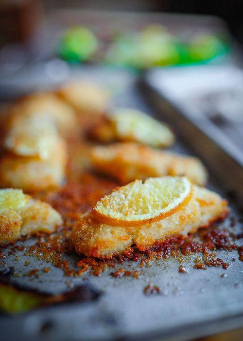 Ryba pieczona w chrupiącej parmezanowej panierce  - etap 1