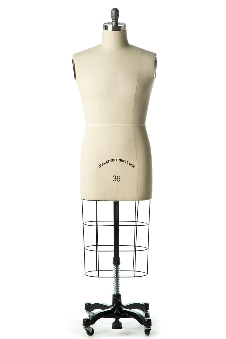 High-end male professional dress form with collapsible shoulders